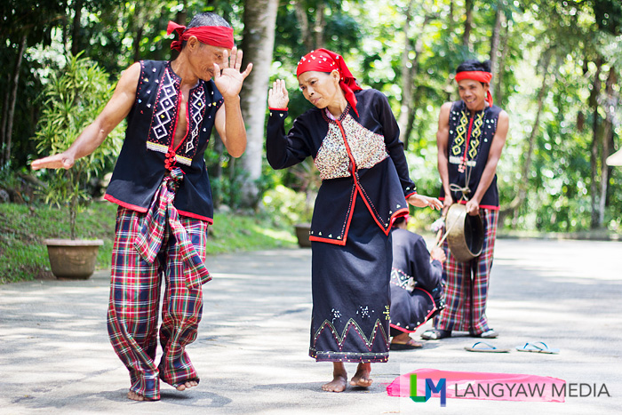 Subanen tribes people performing a traditional dance for visitors