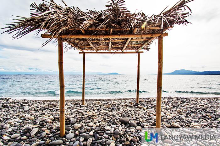 A temporary shack made from nipa
