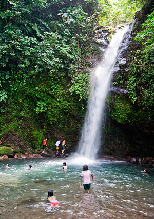 A closer look at Busay Falls