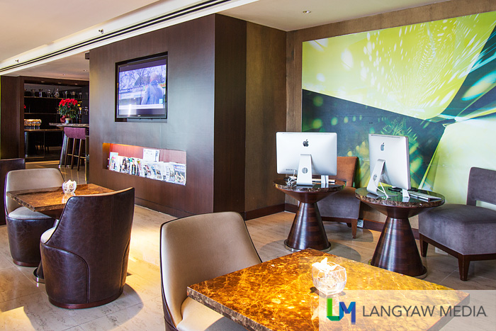 Other than as club lounge, it has well supplied facilities meeting the needs of business travelers