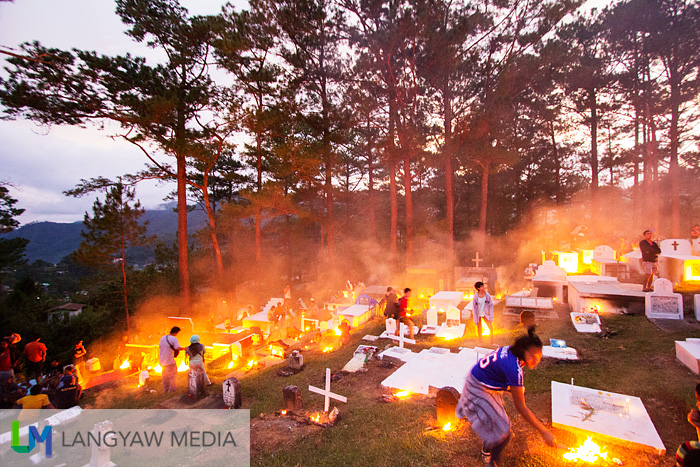 As early as 3PM, the bonfires at Sagada's cemetery starts to light