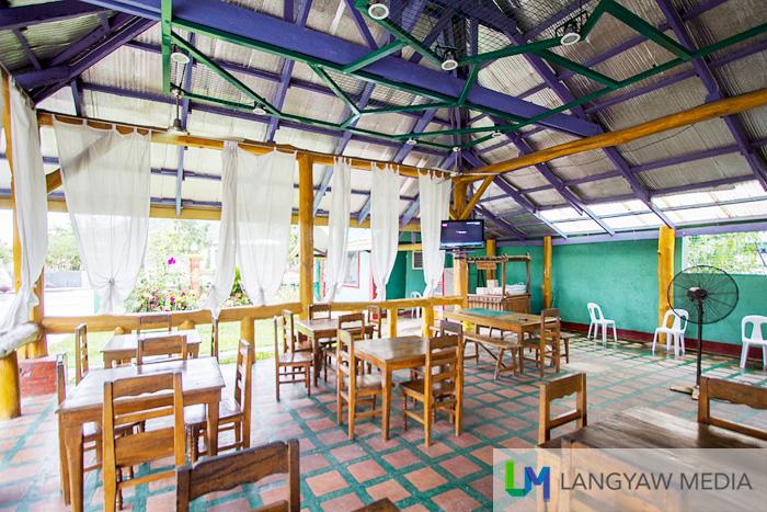 Interior of the roadside restaurant