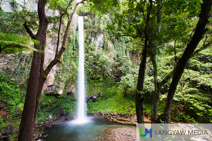 The beautiful Katibawasan Falls as seen from the descending steps