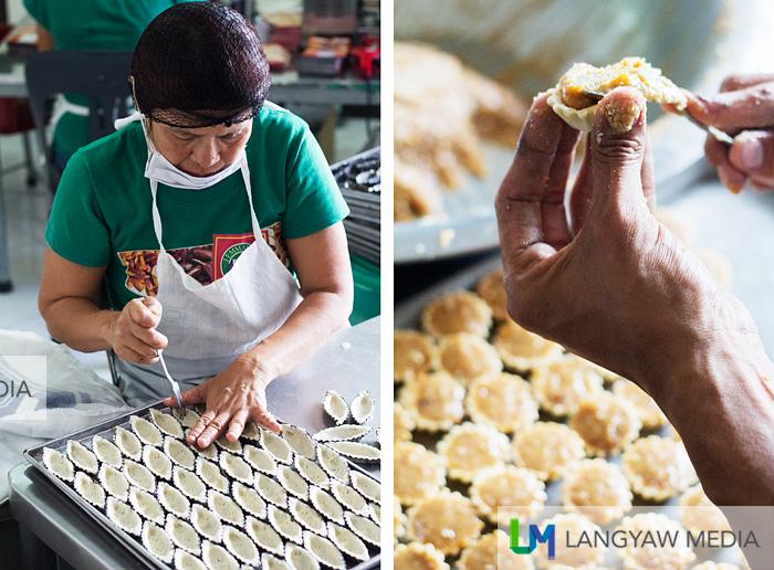 Pili tarts prepared by hand