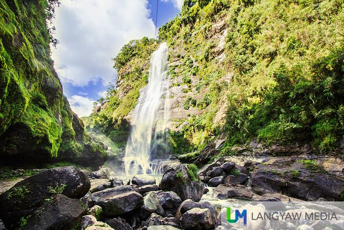 Stunning Bomod-ok Falls in Barangay Fidelisan is Sagada's most popular cascade