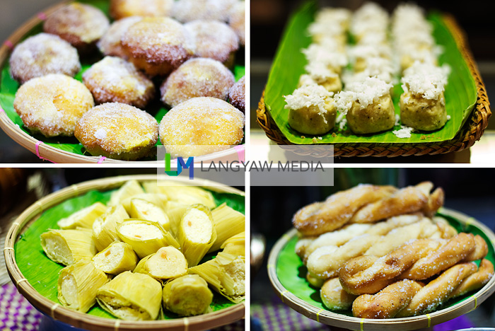 From top right: linusak topped with grated coconut, siakoy, pintos and Cebu torta