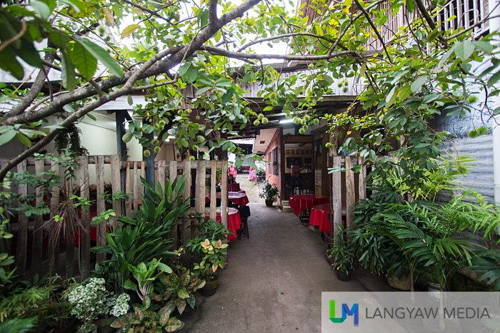 Beautiful garden that greets visitors