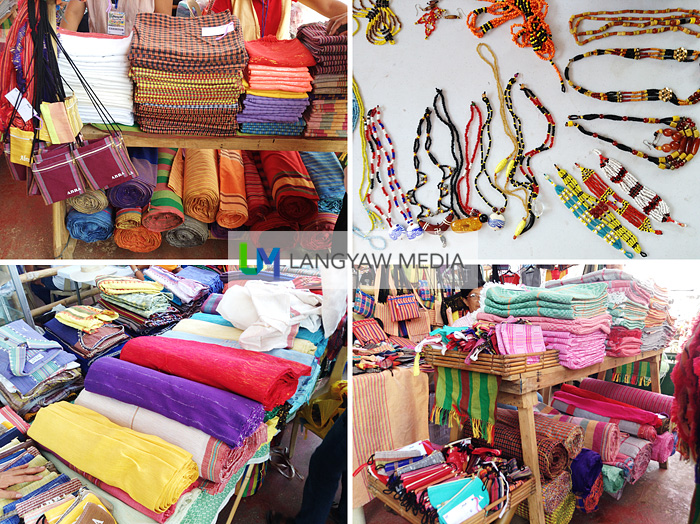 Woven material ranging from Abel Iloko fabrics to Illaud (Itneg sub tribe) traditional weaving to antique and modern jewelry made from traditional and modern beads