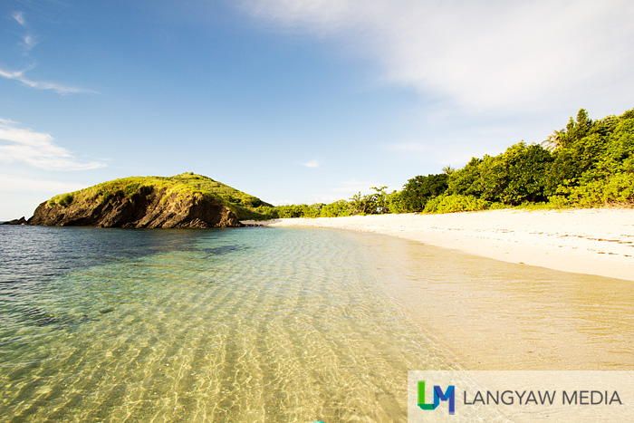 The beautiful clear waters of the island is perfect for swimming