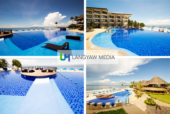 You won't be disappointed when you stay with Bellevue Resort Panglao. Here shown are different views of and within the pool area