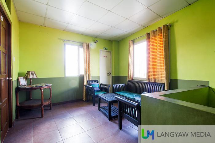 Each floor has a lounge area