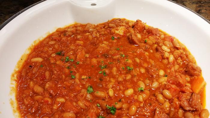 Fabadas (beans and chorizo casserole)