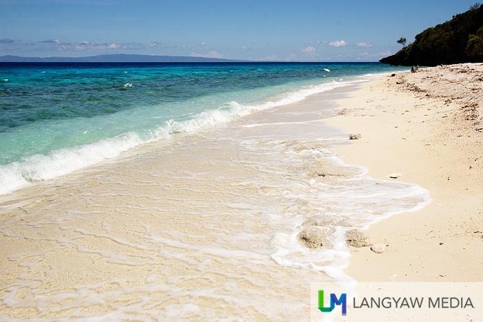 Closer view of the beach near the lagoon
