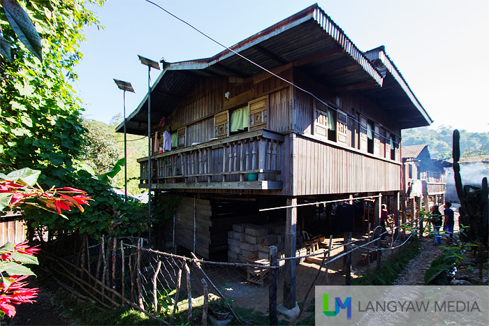A typical wooden house in Barangay Agsimao in Tineg