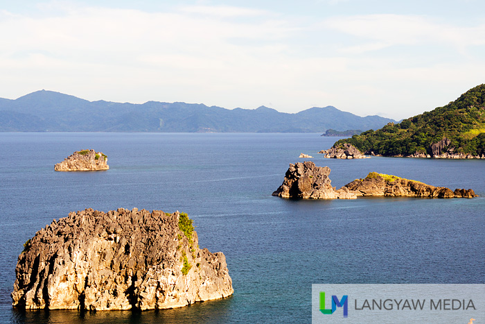 View of islets off Pitogo Island