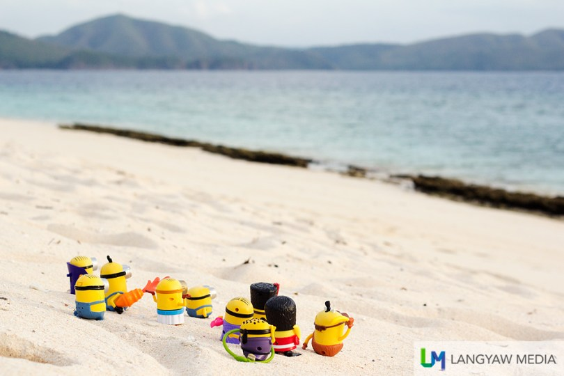 A day of touring Coron , the Minions cap it with a swim at the beach at Dimakya Island where world class Club Paradise resort is located.