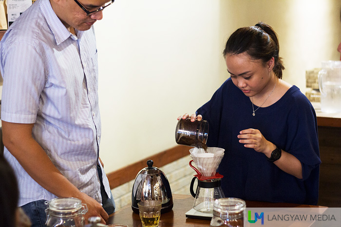 Hands on during the home brewing session
