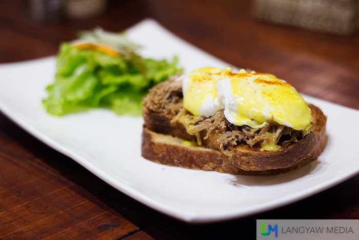 Pumba eggs benedict which, instead of the traditional bacon or ham, uses pulled humba for the meat.