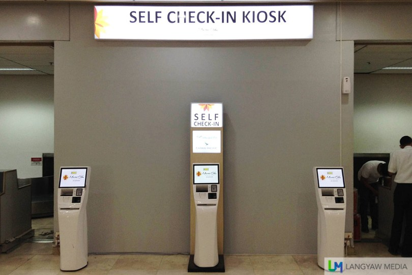 These kiosks are centrally located between counters and are easy to find