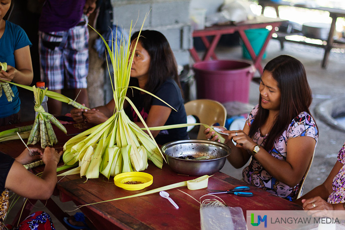 It's a communal activity with women helping out in making the suman and stories flow