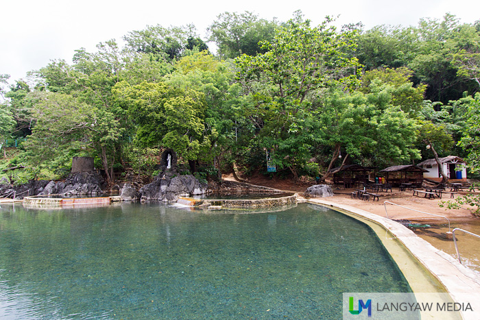 The hot saltwater spring in Coron
