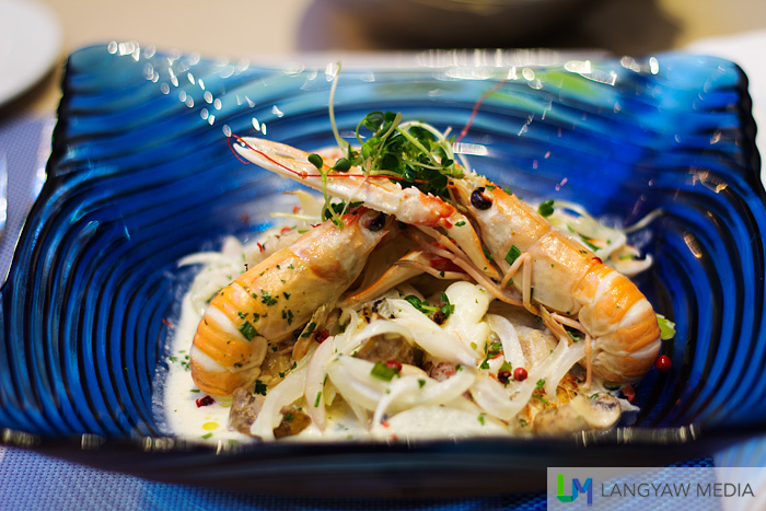 Langoustine, monkfish and rock lobster waterzooi