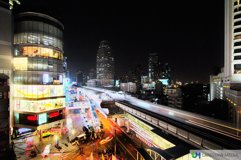 Bangkok at night as seen from the terrace of Zest Bar