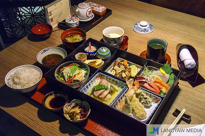The Kisso Bento Box is a chef recommendation and the biggest of two bentos in the lunch menu