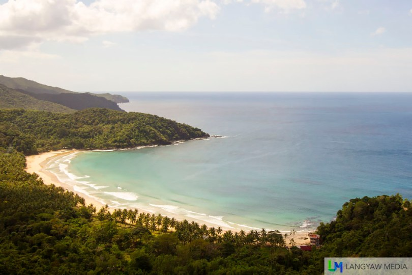 Beautiful cove where Nagtabon Beach is. The viewdeck gives a commanding spread of the area and is several meters from the road fork to Nagtabon