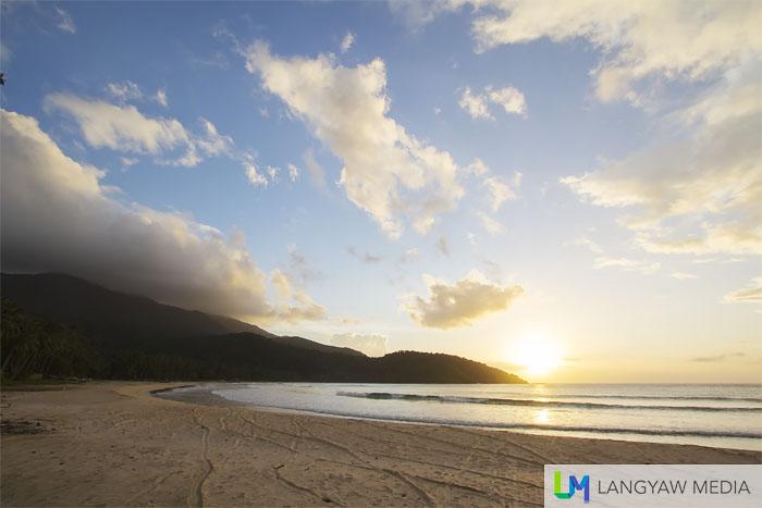 Nagtabon Beach at sunset