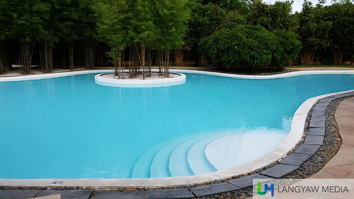 One of two major pools of Bluewater Panglao, this one located beside Aplaya Restaurant and just near the beach
