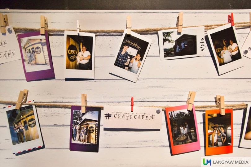 Fan board where guests can pin their photos