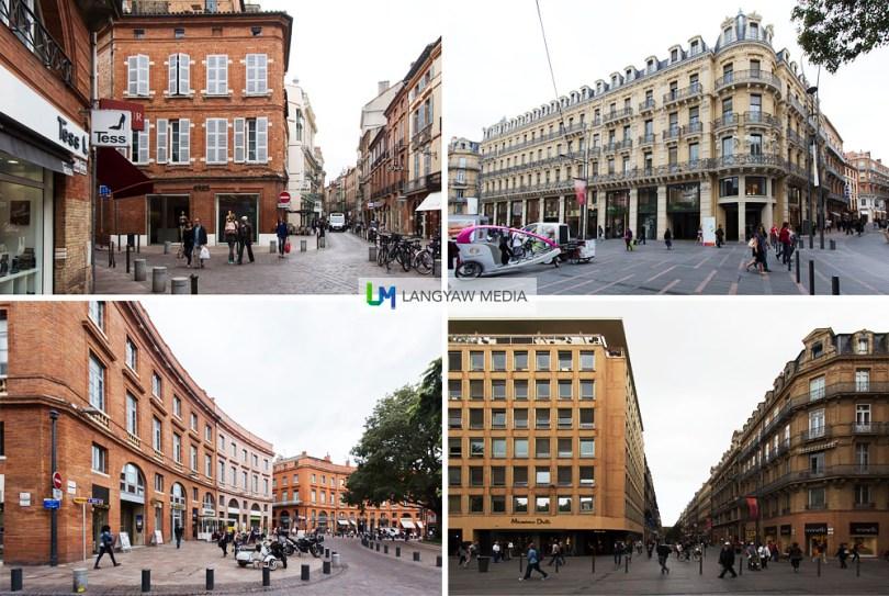 Various buildings around the city