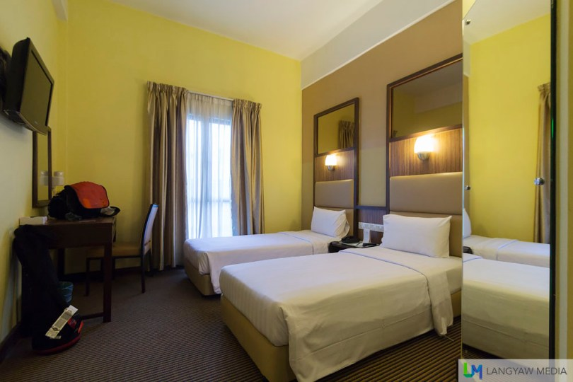 My room at Hotel Sentral which I booked via Hotel Quickly
