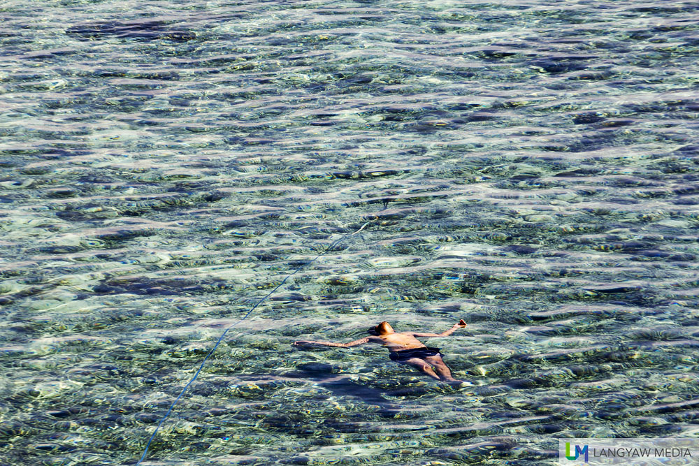 Floating and enjoying the sea