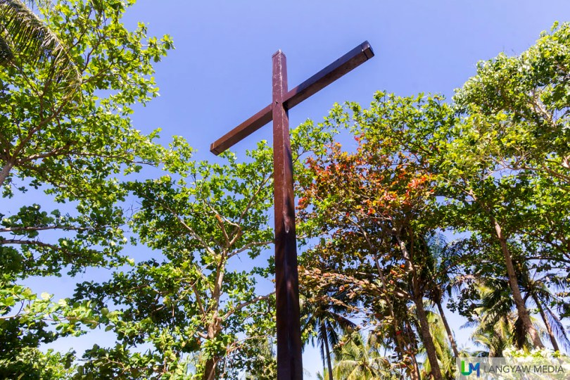 Replica of the cross that was planted by Magellan's men atop the hill which has more than a hundred steps