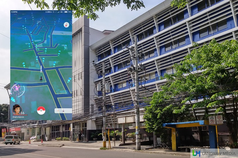 Velez Hospital along F. Ramos St. Inset: Screencap of the vicinity.