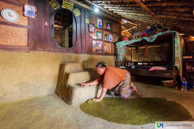 Soil and cow dung makes for this flooring of a traditional Sasak house. The cow dung is mixed to prevent mosquitoes from entering the abode