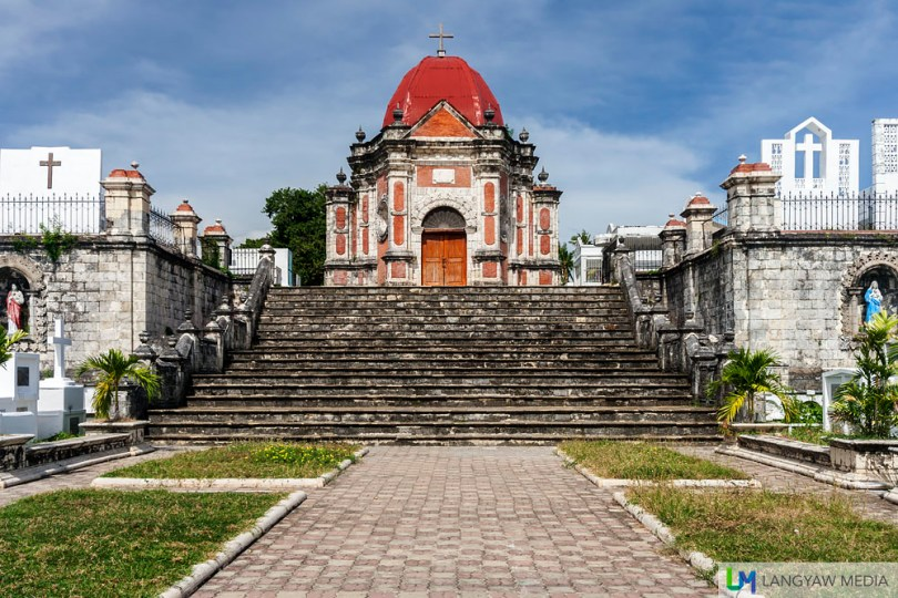 It's the grandest Spanish colonial era cemetery with its baroque chapel at the center.