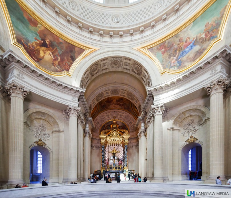 The Dome des Invalides is actually a church that was redesigned in the 19th century to accommodate the remains of Napoleon Bonaparte
