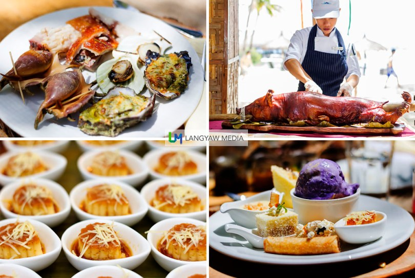 Maribago Bluewater Beach Resort themed dinner buffet in Mactan
