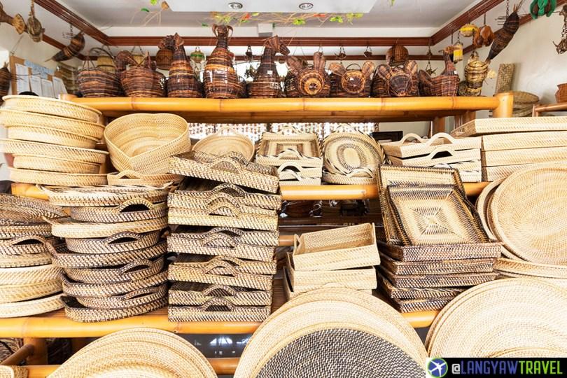 Basket weaving in bohol