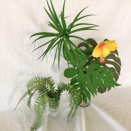 Sample – Lani's Tropical Plants Paper Craft Kit 2-1