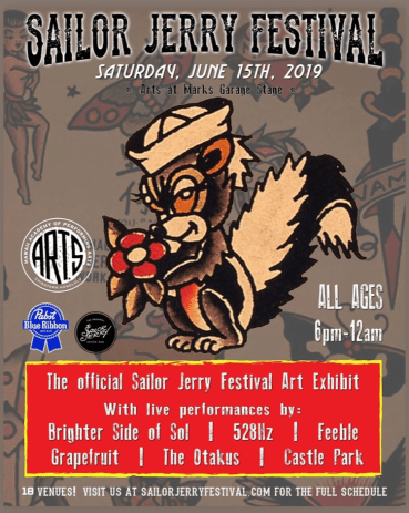 Exhibition at Sailor Jerry Festival in China Town, Honolulu