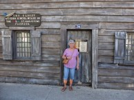 """Romola at the """"oldest wooden school house"""""""