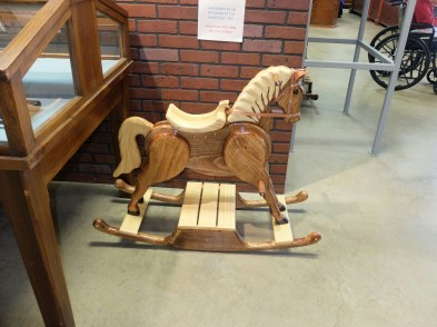 Prisoner made rocking horse, for sale to the pubkic