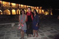 Katherine with the Wickramasekera sisters, Galle