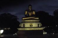 Golden Buddha and bats at Viharamhadevi Park, Colombo