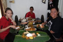 Final farewell lunch at Manchu's sister's house