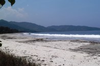 Paradise deserted beach